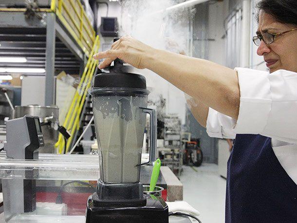 milkshake with liquid nitrogen