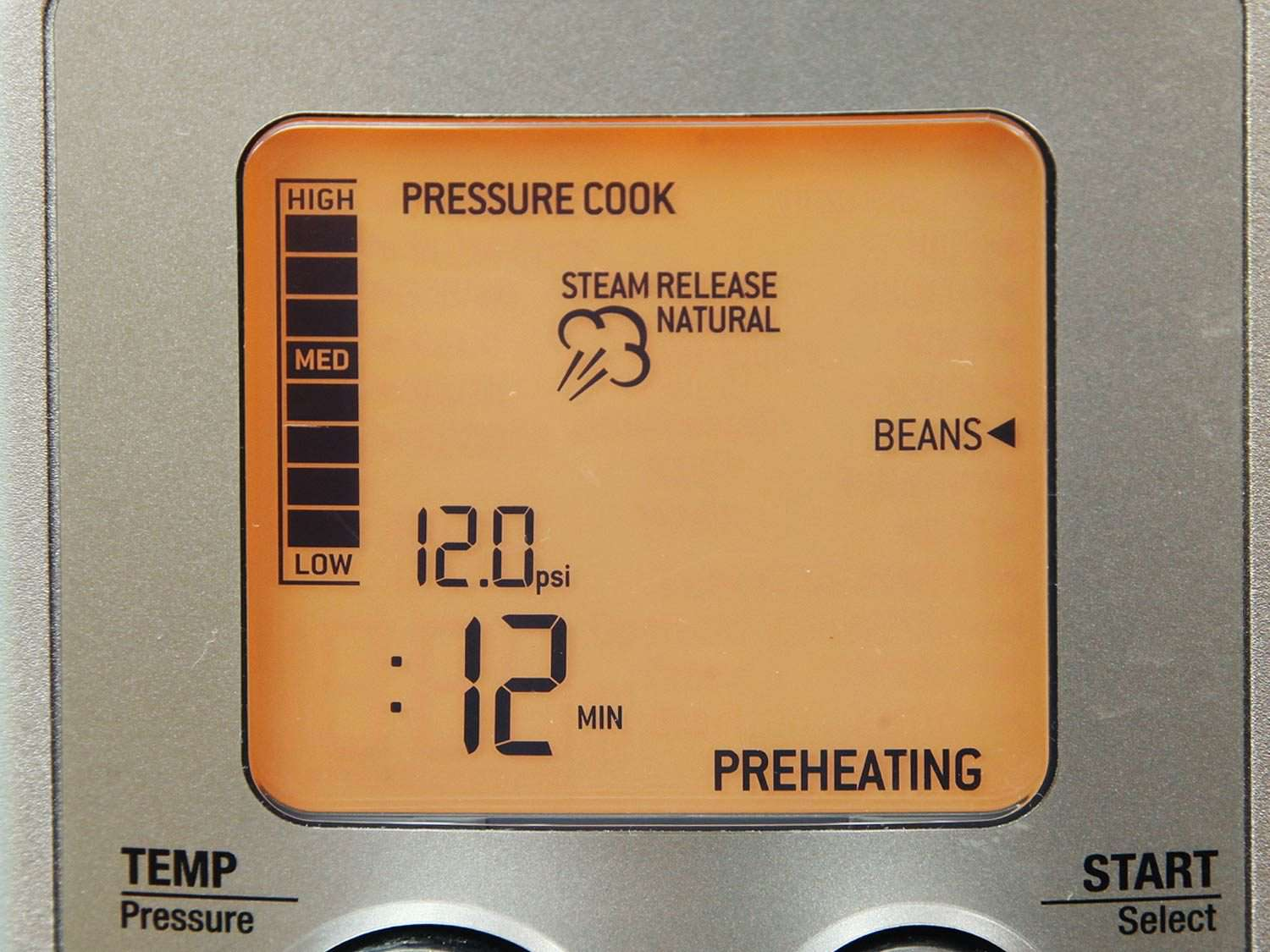 Display on Breville Fast Slow Pro