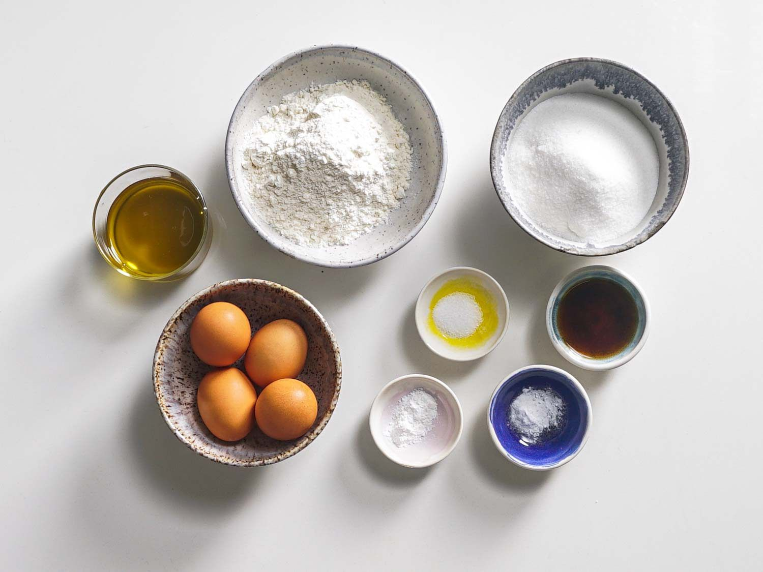 Ingredients for a classic jelly roll