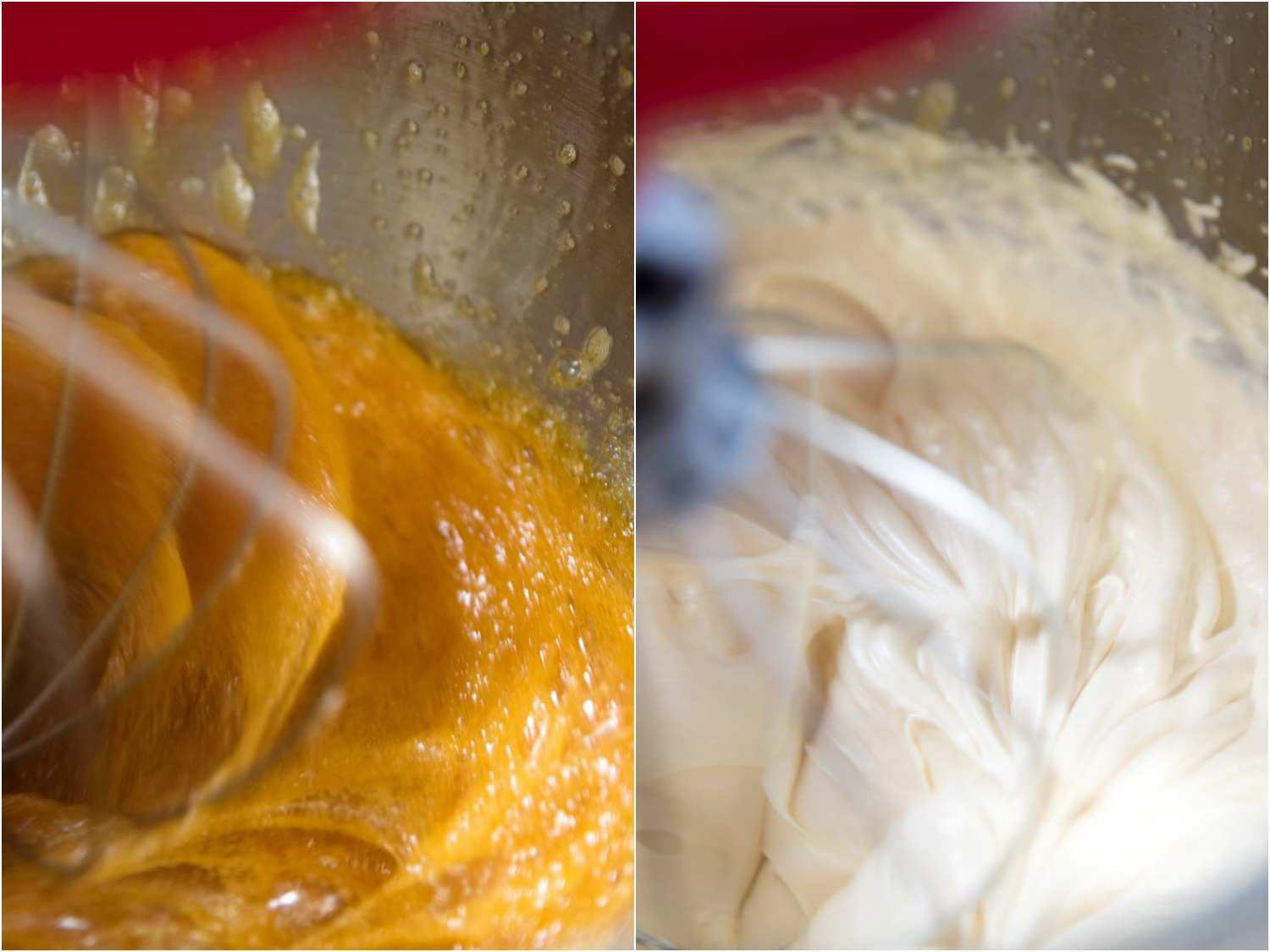 semifreddo base before and after aeration