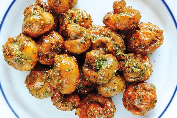 Bar Tartine pickled mushrooms