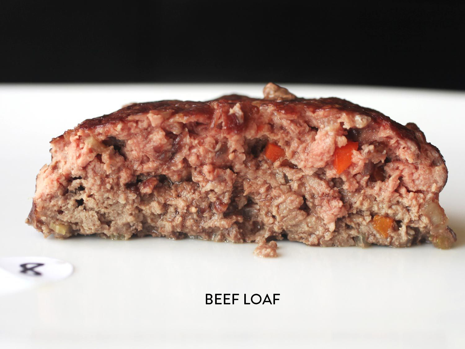 a cross-section of meatloaf made with all beef