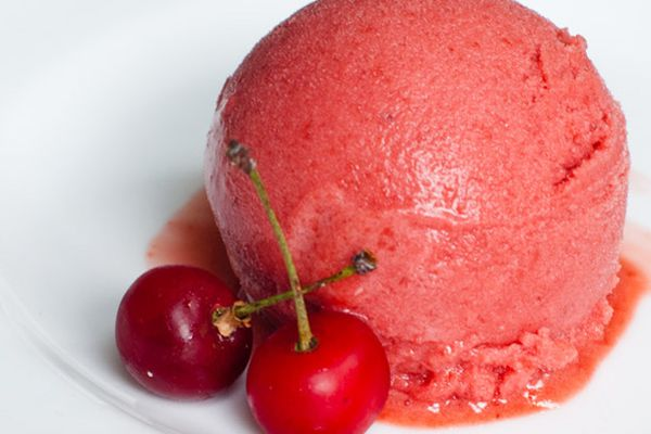 cherry and lavender sorbet