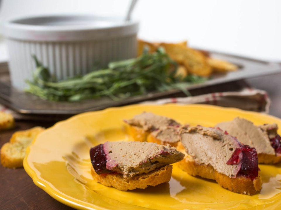 Chicken Liver Pâté With Bourbon and Cranberry Gelée Recipe