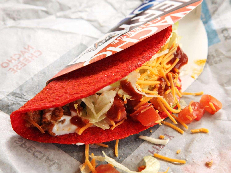 The Taco Bell Fiery Doritos Locos Taco Supreme