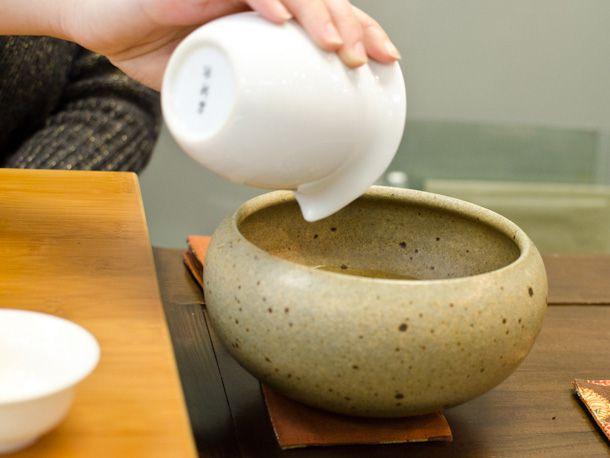 spit bowl for tea drinker
