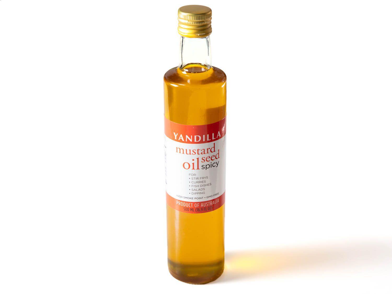 Bottle of Yandilla mustard oil