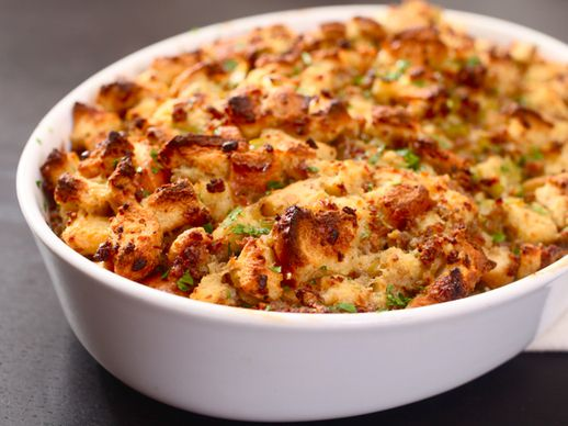 Classic Sage and Sausage Stuffing (or Dressing)