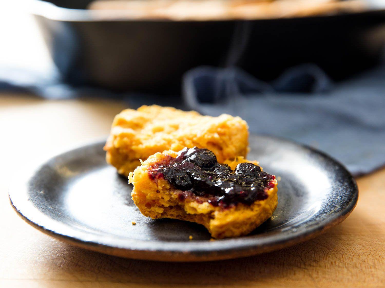 sweet potato biscuit with jam