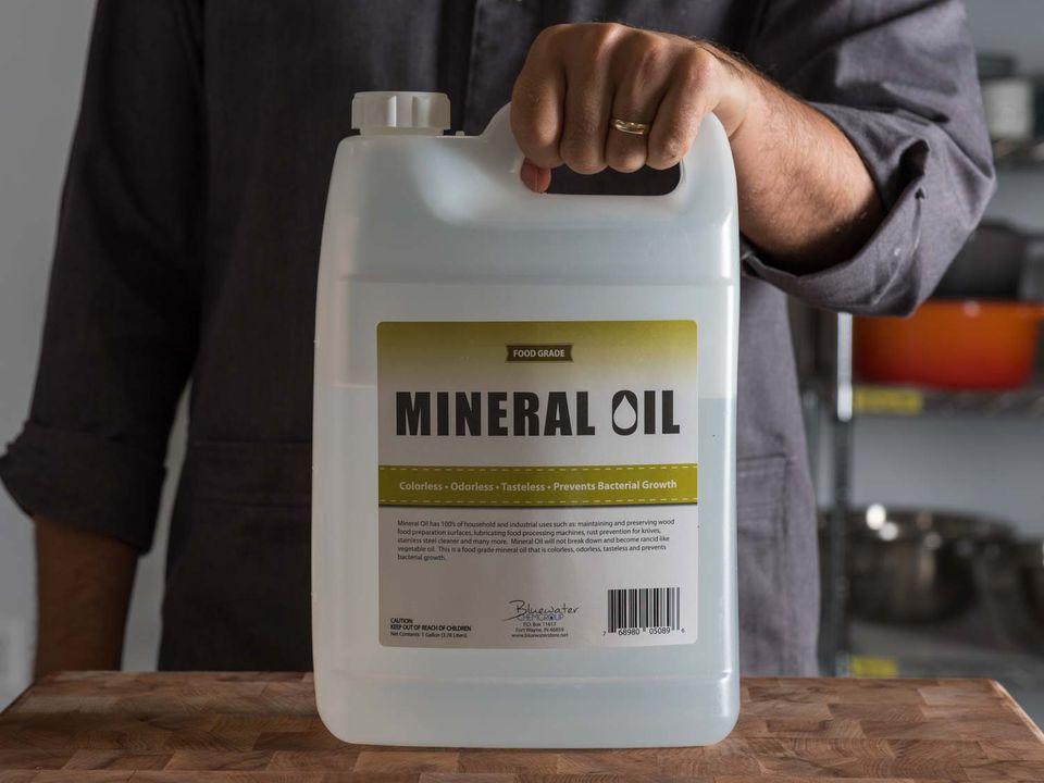 bottle of mineral oil