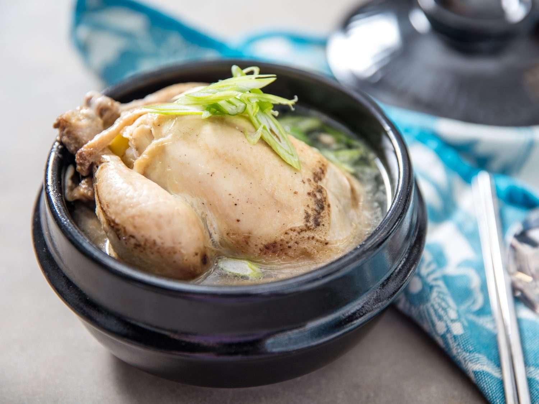 A serving of Korean samgyetang