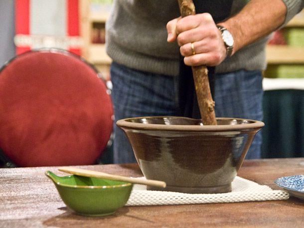 grinding tea mixture