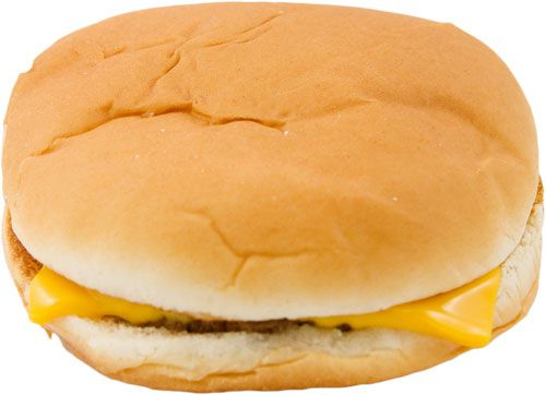 A McDonald's cheeseburger.