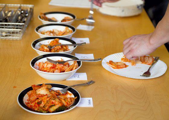 Kimchi Tasting