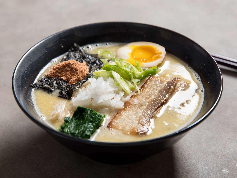 Bowl of miso chicken paitan ramen