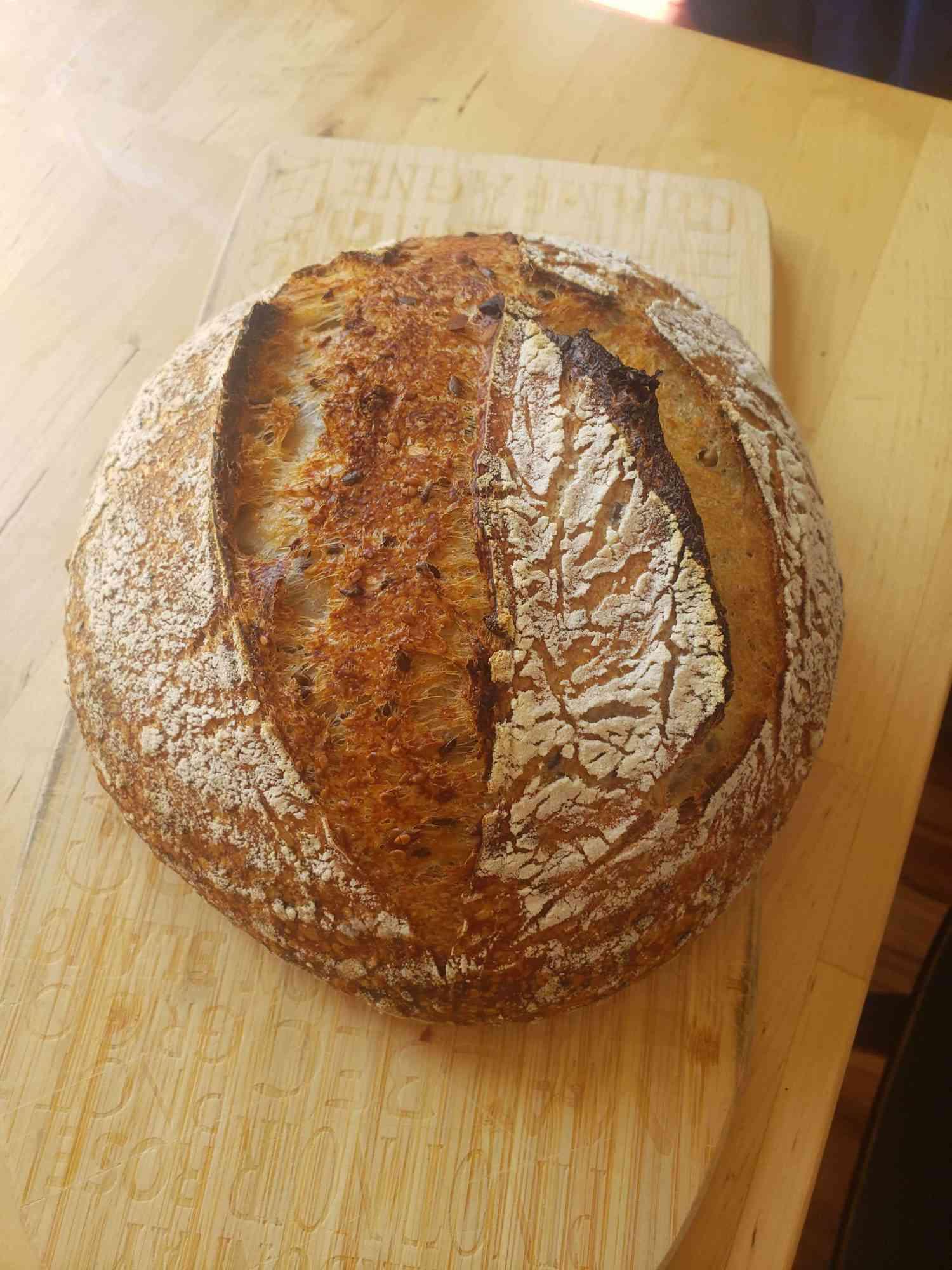 Daniel DK's bread, overhead shot