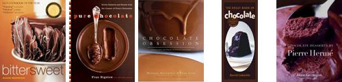 Cookbooks about chocolate.
