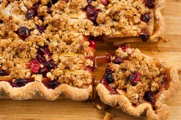 Cranberry Apple Slab Pie
