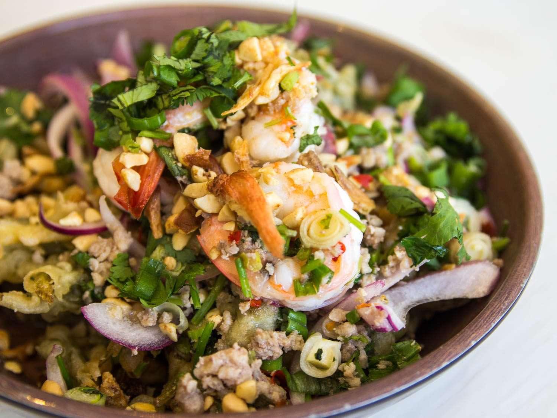 Crispy watercress salad at Mondayoff