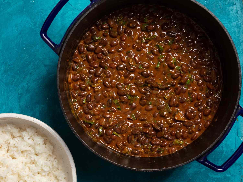 Cooked njahi (Kenyan black beans)