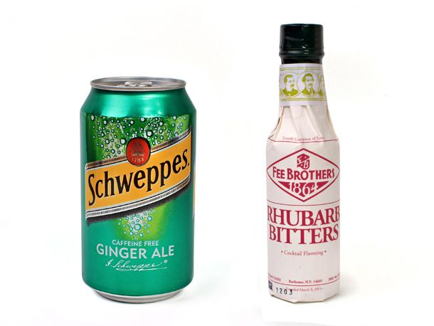 Ginger Ale and Rhubarb Bitters