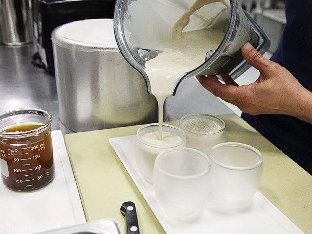pouring milkshake