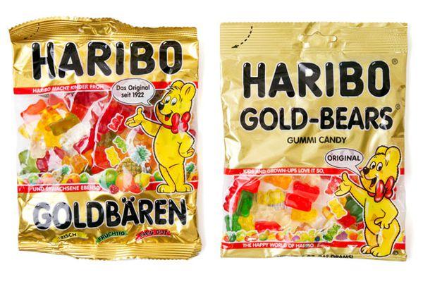 Two bags of Haribo Gummy bears