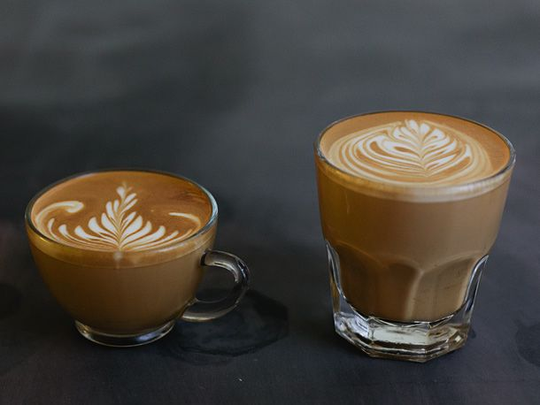 flat white and latte