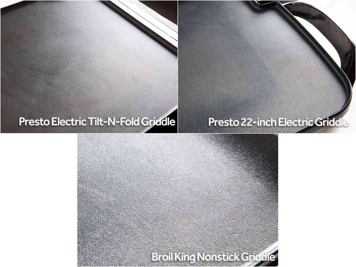 Cooking surfaces of our top griddles.