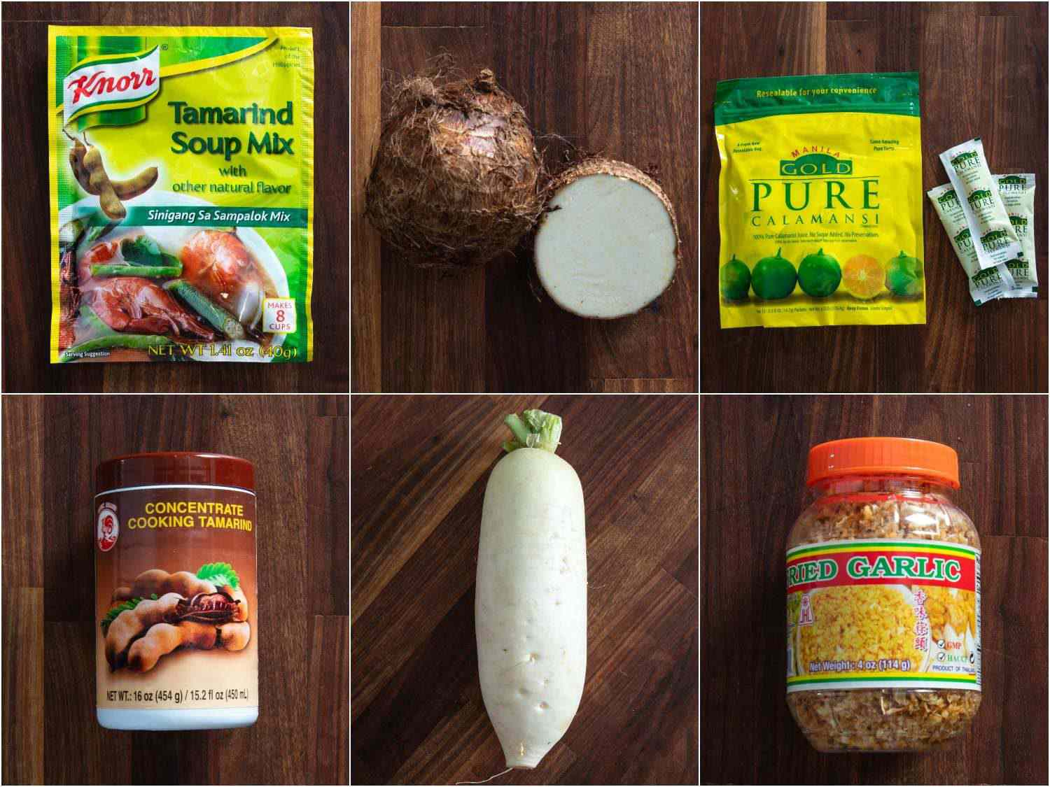 A collage of some of the products called for in this recipe