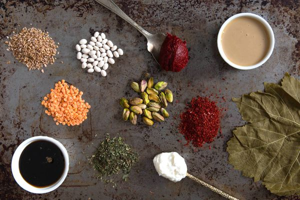 20160721-turkish-Small piles of ingredients and spices used in Turkish cooking.-vicky-wasik.jpg
