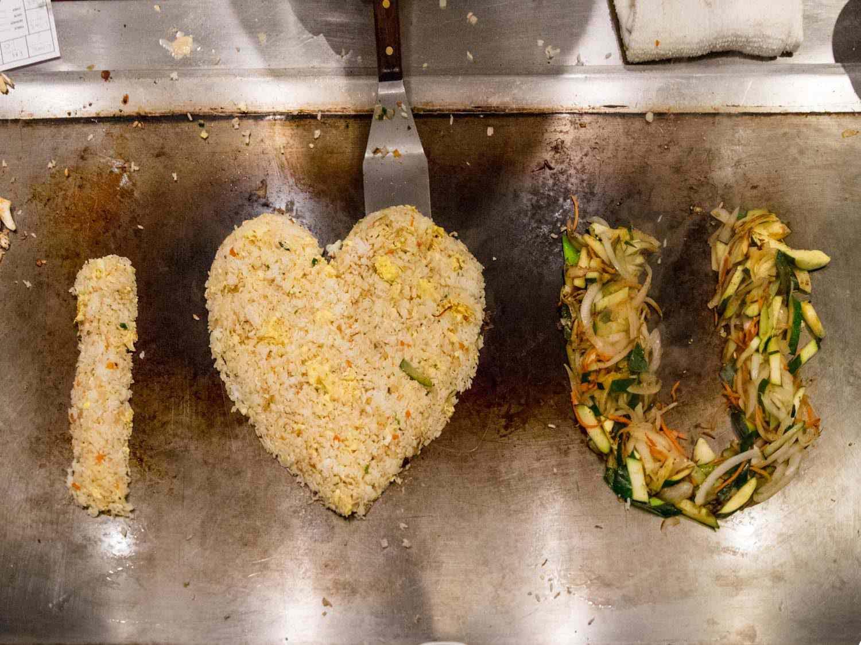 Benihana's signature fried rice