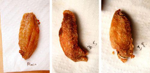 Comparing baking soda and baking powder on baked buffalo wings