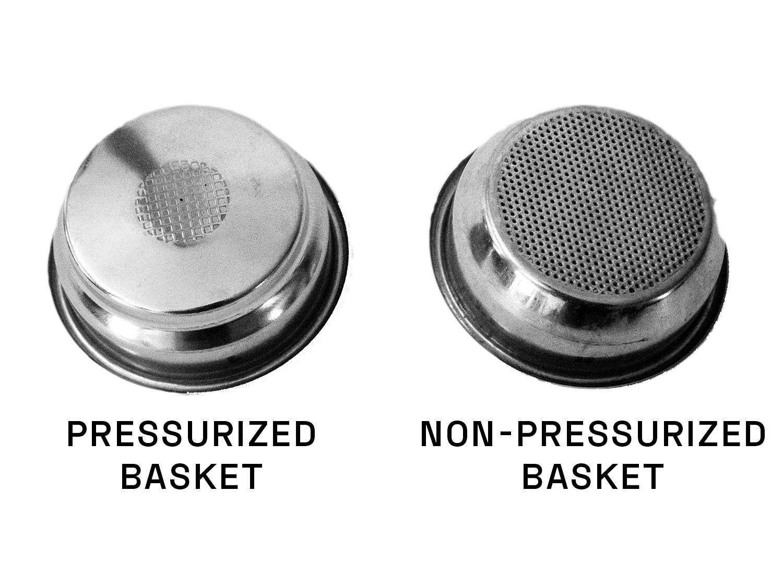 pressurized vs. non-pressurized portafilter basket