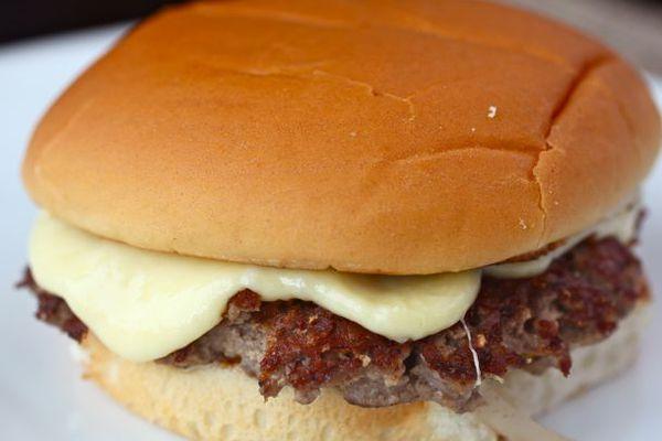 seared cheeseburger