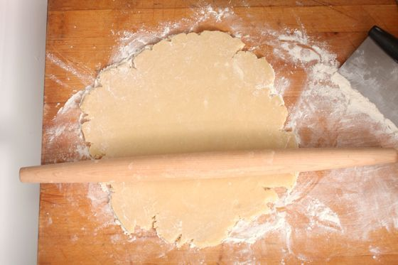 rolled pie dough
