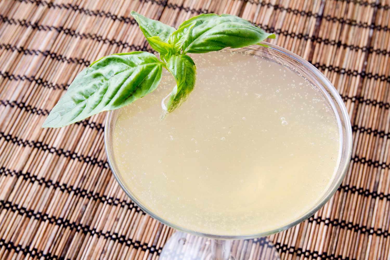 Lime-A-Rita with basil garnish