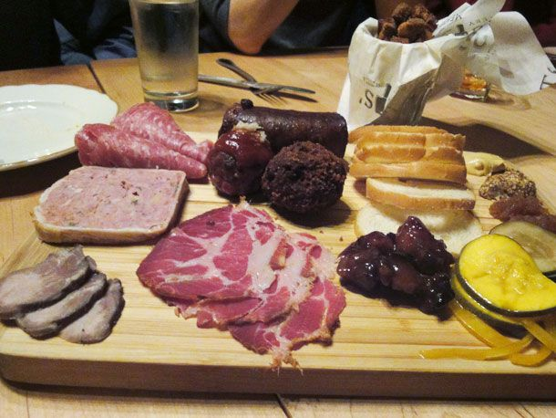 Toups Meatery's Charcuterie Plate