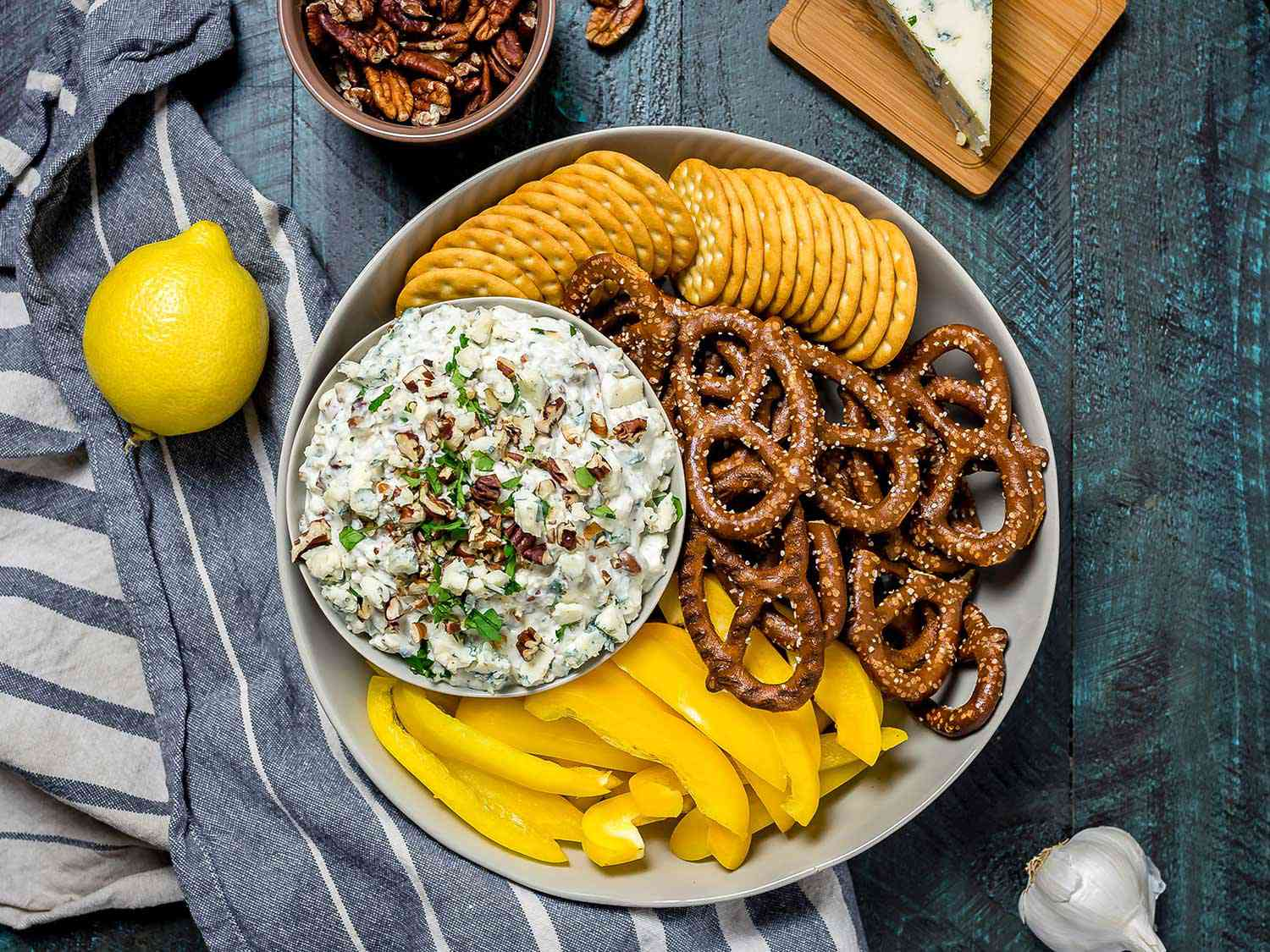 20181112-blue-cheese-and-toasted-pecan-dip-overhead-morgan-eisenberg