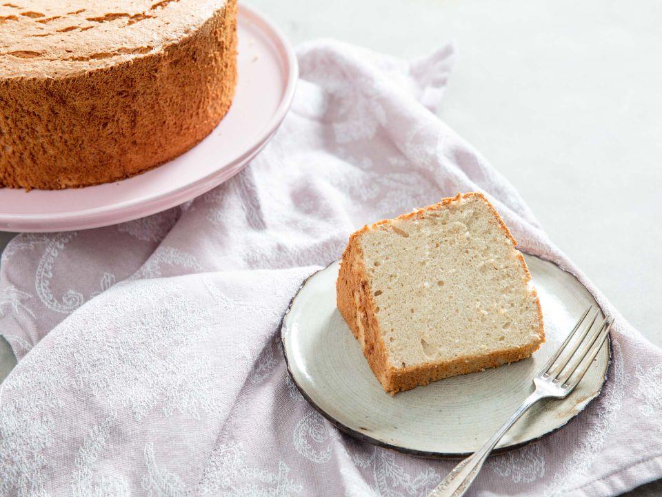 Slice of Maple Angel Food Cake