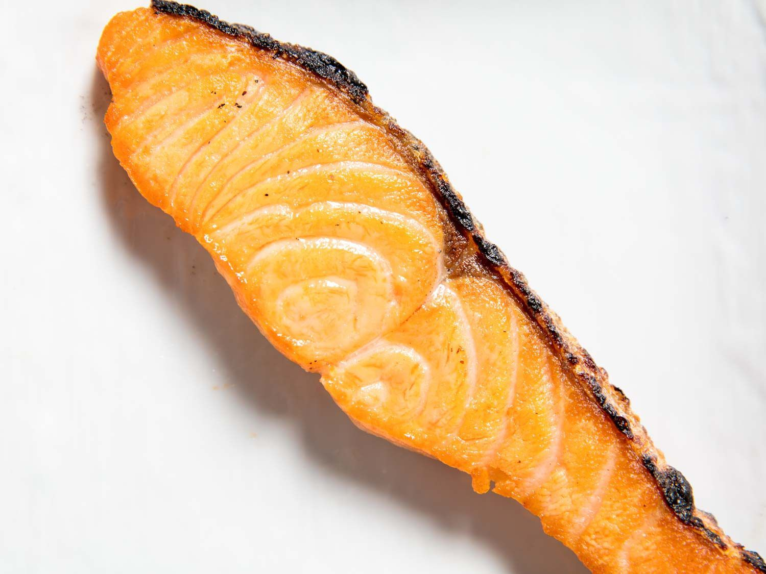 A piece of salted salmon