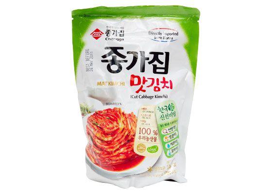 A package of Chongga kimchi