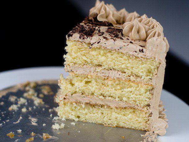 layered chocolate and vanilla cake