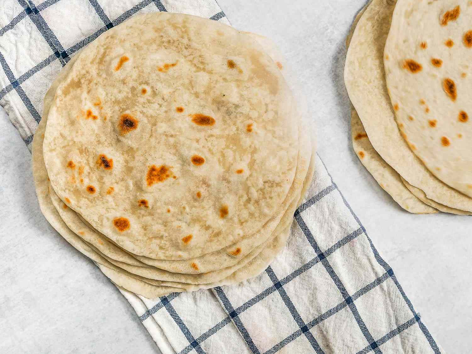 a stack of northern mexican style flour tortillas