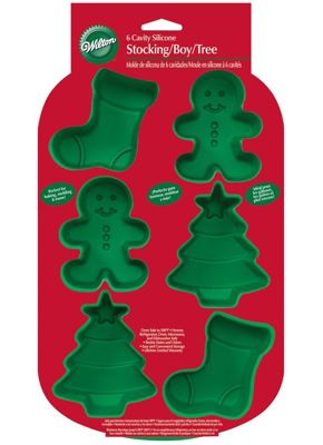 Christmas-themed silicone molds