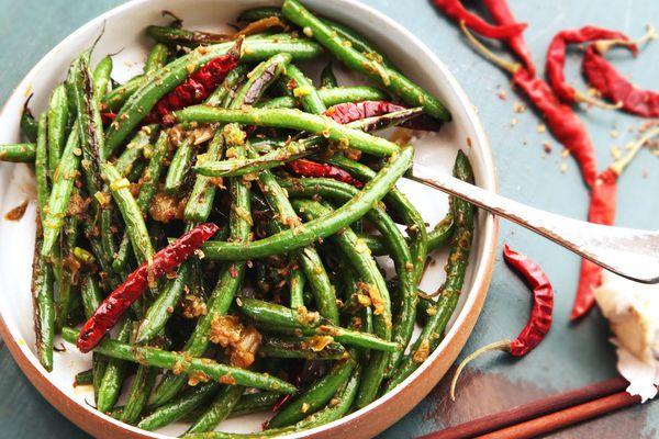 Sichuan Dry-Fried Green Beans