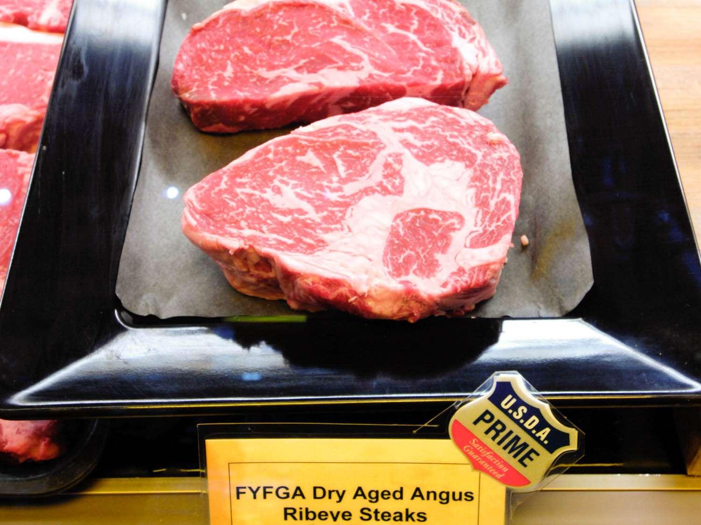 Prime ribeye steaks