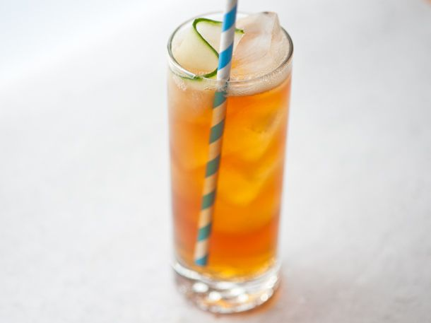 Pimm's and Tonic cocktail