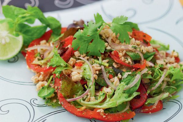 Spicy Thai Salad with Minced Pork (Larb)