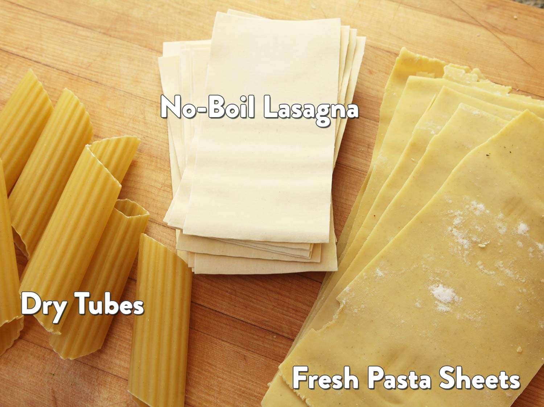 manicotti style pasta options
